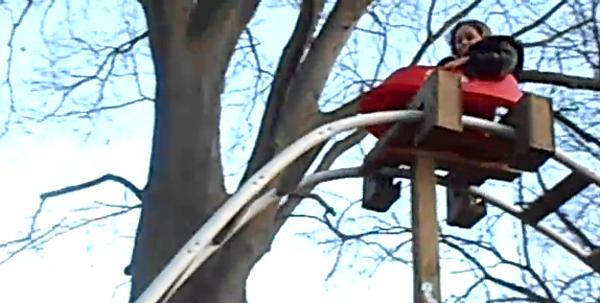 how to make a homemade roller coaster